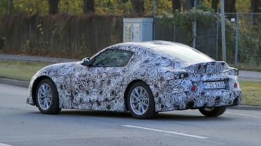 Production Toyota Supra spy side on