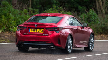 Lexus RC - rear action