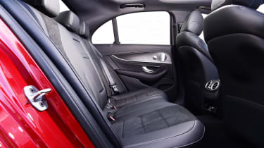 Mercedes E 300 e - rear seats