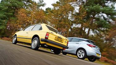 Vauxhall Astra - old vs new rear