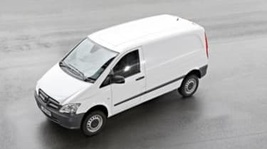 Mercedes Vito front left side top view
