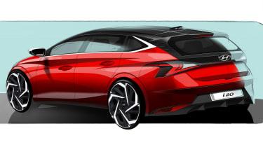 Hyundai i20 - rear sketch