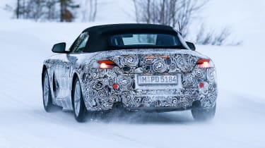 BMW Z4 spy shot rear