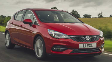 Vauxhall Astra driving front