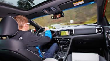 New Kia Sportage SUV 2016 - Sean driving