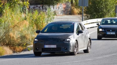 New Toyota Auris spied front