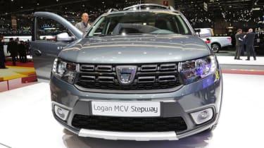Dacia Logan MCV Stepway Geneva - full front grey