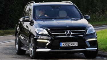 Mercedes ML63 AMG front cornering