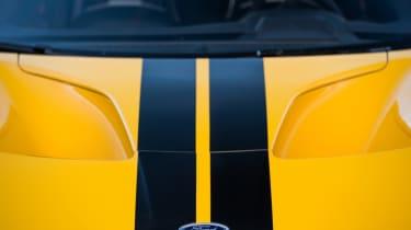 Ford GT Norway road trip - bonnet stripe