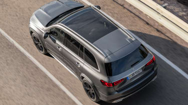 Mercedes GLS - grey above