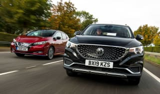 MG ZS EV vs NIssan Leaf - header