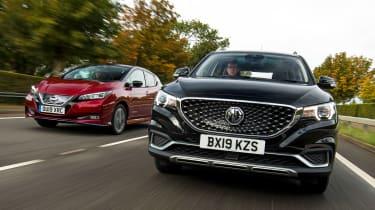 MG ZS EV vs NIssan Leaf - header