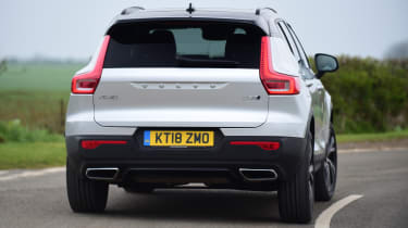Volvo XC40 rear cornering