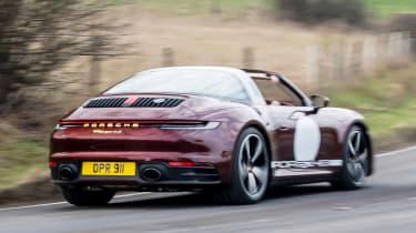 Porsche 911 Targa 4S Heritage Design Edition - rear action