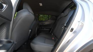 toyota c-hr rear seats legroom