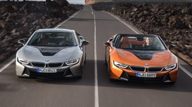 BMW i8 Coupe and Roadster - front