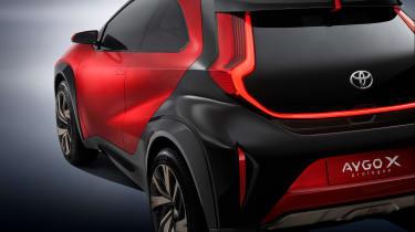 Toyota Aygo X prototype - studio rear detail