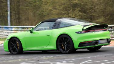 Porsche 911 Targa spies - rear 3/4