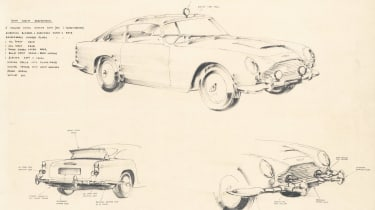 Aston Martin DB5 Continuation - sketches
