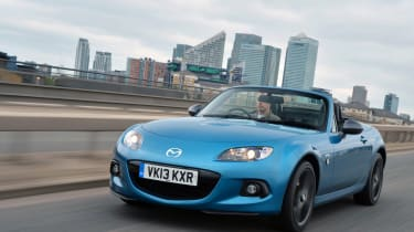 We're encouraged to think of the MX-5 as a stripped back driver's car by a lot of these special editions and concepts but Mazda's roadster can get pretty luxurious too. The MX-5 Sport Graphite edition was a case in point with leather h