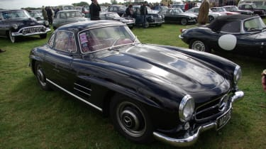 This beautiful Mercedes 300SL wasn't a static display - it was brought to the event by a showgoer.