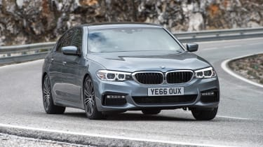 BMW 520d M Sport - front cornering