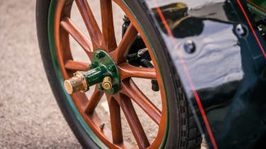 London to Brighton Veteran Car Run  -  Vauxhall wheel