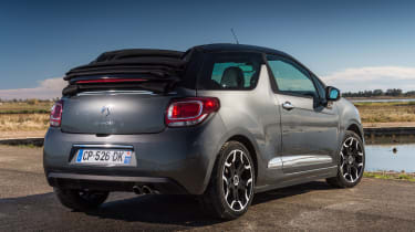 Citroen DS3 Cabrio rear three-quarters
