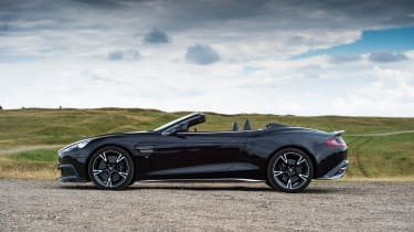 Aston Martin Vanquish S Volante - top down