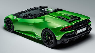 Lamborghini Huracan Evo Spyder - rear 3/4
