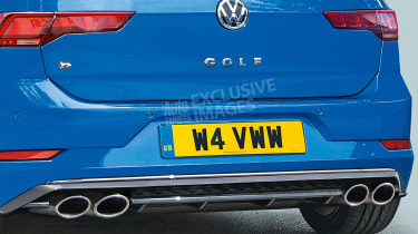 New Volkswagen Golf R - rear detail (watermarked)