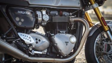 Triumph Thruxton R review - engine view