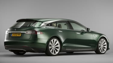 Tesla Model S Shooting Brake estate static rear