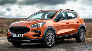 Ford Fiesta SUV - front (watermarked)