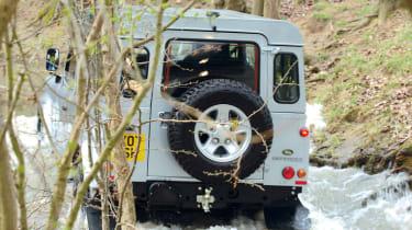 Land Rover Defender rear three-quarters