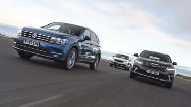 Volkswagen Tiguan Allspace vs Kia Sorento vs Skoda Kodiaq - header