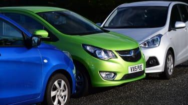 Vauxhall Viva vs Hyundai i10 vs Suzuki Celerio design