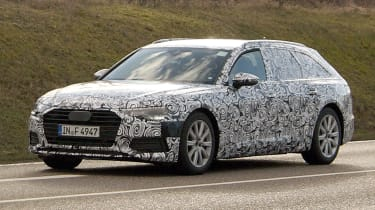 Audi A6 Avant spies front side