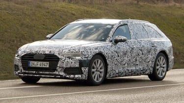 Audi A6 Avant spies front side
