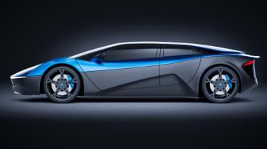 Blue Elextra EV four-seat supercar