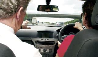 Learner drivers on Motorway