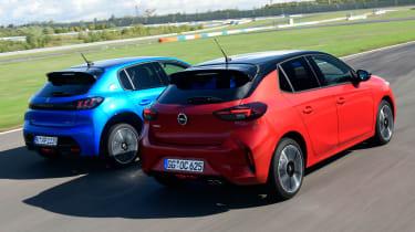 Vauxhall Corsa vs Peugeot 208 - rear