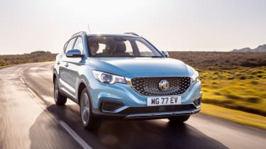 MG ZS EV front