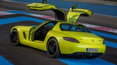 Mercedes SLS Electric Drive rear three-quarters