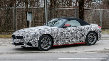 New BMW Z4 driving along