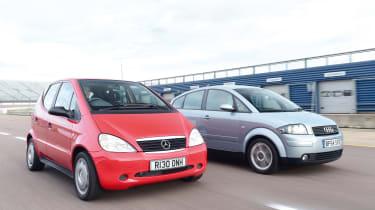 Mercedes A140 and Audi A2
