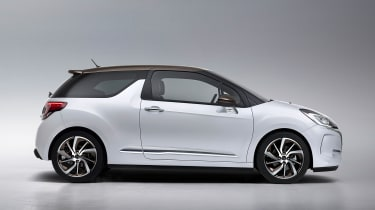 DS 3 hatchback - side white