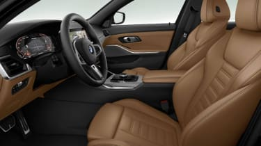 Leaked BMW 3 Series - front seats brown 2