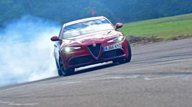 Alfa Romeo Giulia Quadrifoglio - front drift