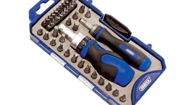 Draper 42pc Ratchet Screwdriver and Bit Set 46479
